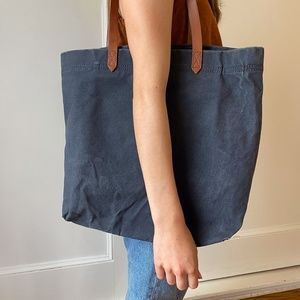 Navy Distressed Madewell bag